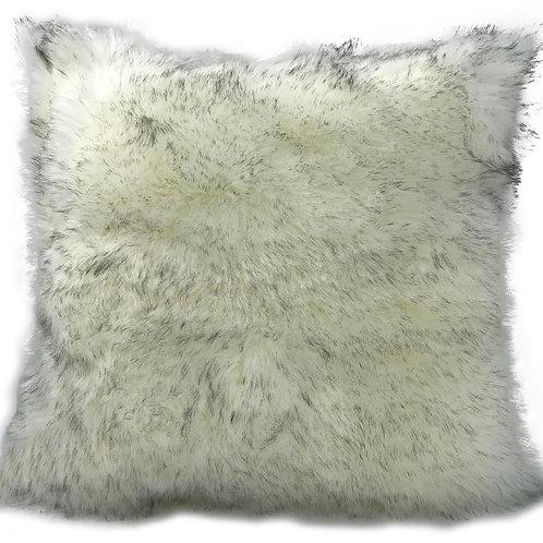 Cushion cover or cushions THICK PILE Shaggy faux fur cushions White_Grey