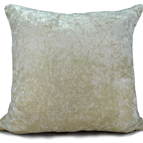 Crush Velvet Cushions Cream Cushion Covers