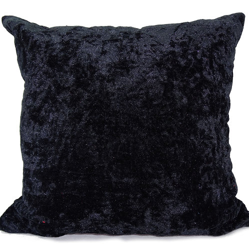 "Plain Crush velvet cushions or Cushion Covers Black 17""x 17"",20""x 20"",23""x 23""."