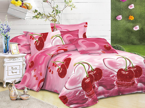 3D Duvet set,Cherry, Double or King size