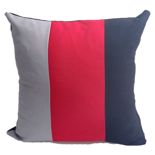 Three Tone Cushions Red available in 2 sizes