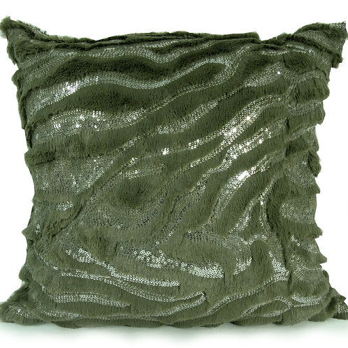 faux fur Sequin cushions or covers Beige