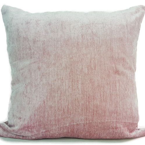 "Plain Soft Chenille Cushions or covers Light Pink 17""x 17"""