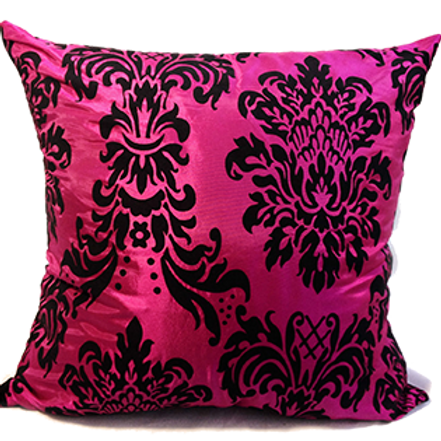 """Flock damask cushions or Covers Pink 17""""x 17"""",21""""x 21"""",23""""x 23"""""""