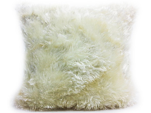 soft faux fur cushions or covers CREAM, 2 sizes