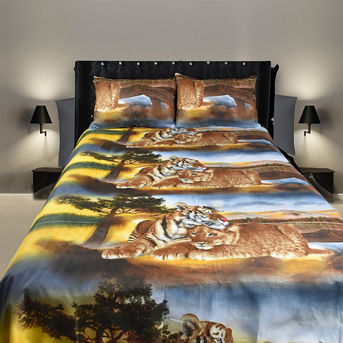 Tiger Lion 3D Duvet cover set Double ,Kingsize