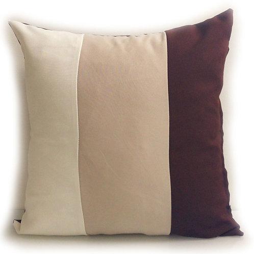 "Three Tone Cushions Brown 17""x 17!, 21""x 21"""