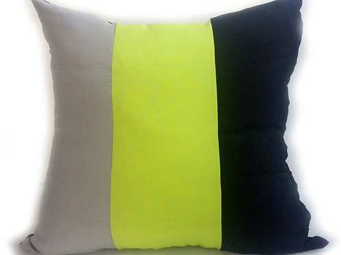 3 tone cushions GREEN-BLACK available in 2 sizes