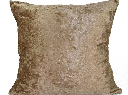 Plain Crush Velvet Cushions Latte