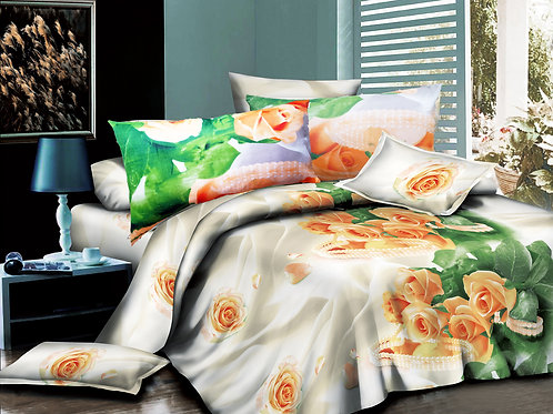3D Duvet set,55 gsm Roses Gold, Double or King size
