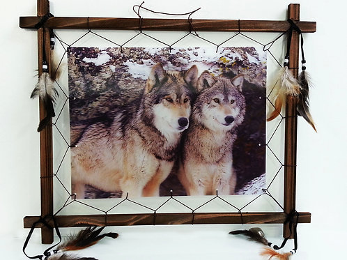 3d Picture Frame-Pair of Wolf