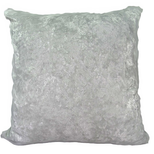Plain Crush Velvet Cushions White