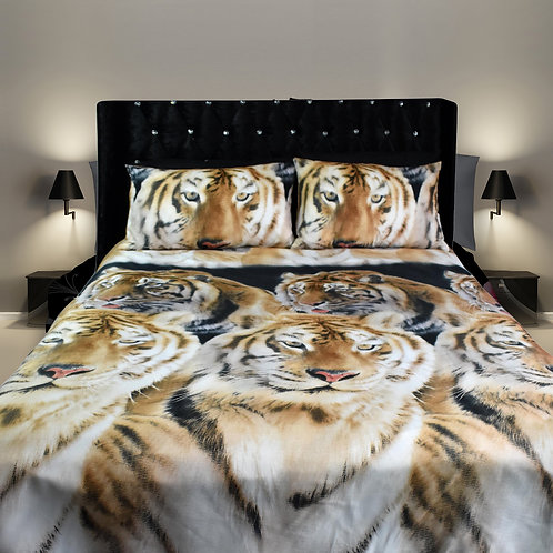 Tiger Face 3D Duvet cover set Double, Kingsize