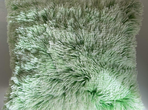Super Soft Cuddly 2 TONE Faux Fur Fluffy Cushions or Covers GREEEN