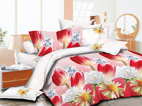 3D Duvet set,55 gsm Tulip, Double or King size