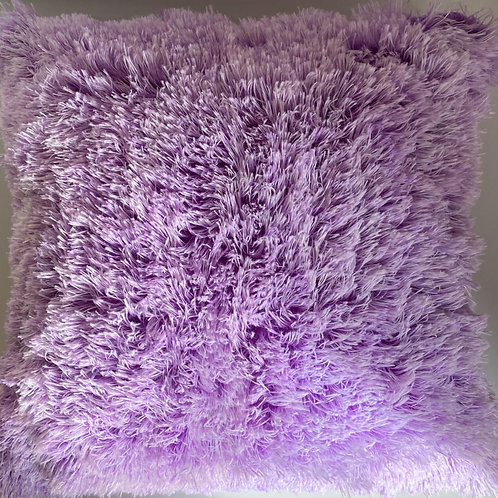 Super Soft Cuddly 2 TONE Faux Fur Fluffy Cushions or Covers Light PURPLE
