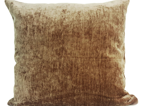 "Plain Soft Chenille Cushions or covers Taupe 17""x 17"""