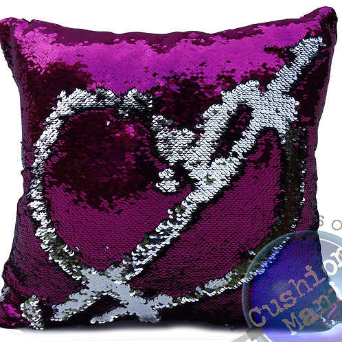 SEQUIN mermaid reversible two tone glitter cushions or covers CHERIES pink