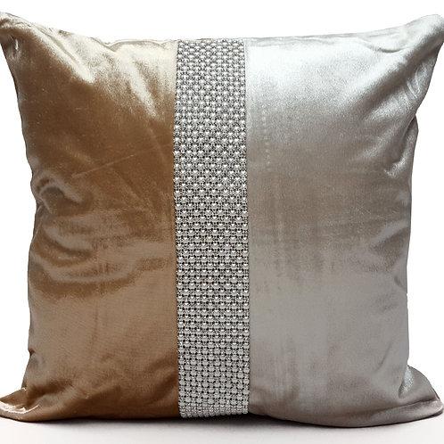 Designer cushions velvet Pearl diamante Cream_Beige