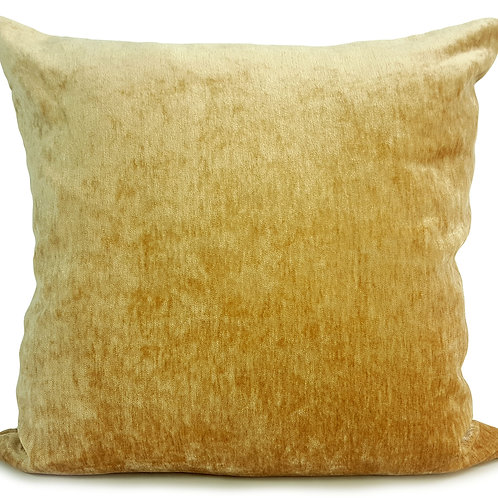 "Plain Soft Chenille Cushions or covers Gold 17""x 17"""