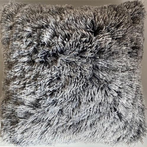 Super Soft Cuddly 2 TONE Faux Fur Fluffy Cushions or Covers GREY