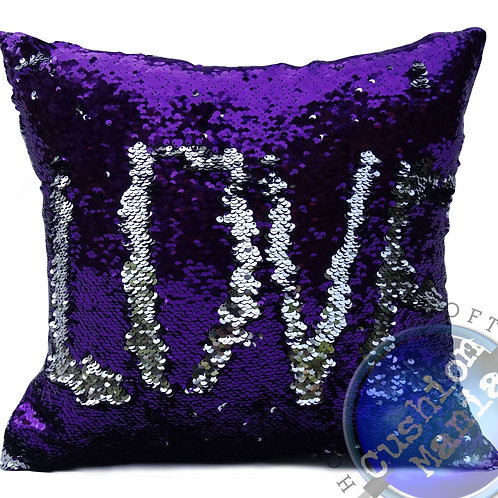 Magic sequin mermaid reversible two tone glitter home car sofa cushion or cover