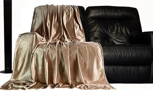 Throw over bedspread Shiny Velvet New Sofa or bed Throw