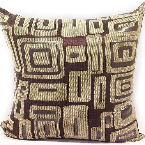 "Large Matrix Chenille Cushions 22""x 22"" Cream"