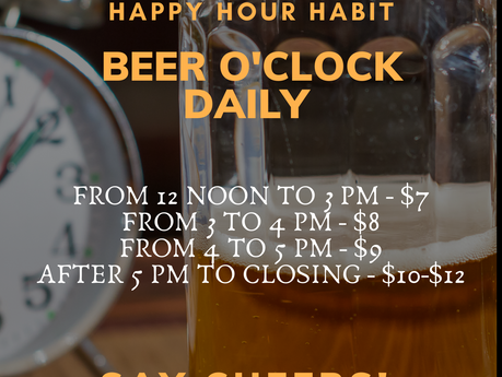 Say Cheers! Daily Beer O'Clock @ Beerfest Brewery!