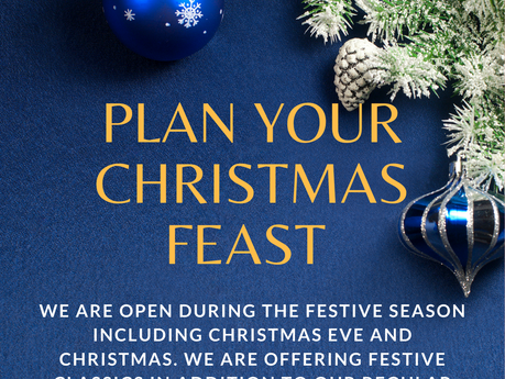 Plan your Festive Feast with us!