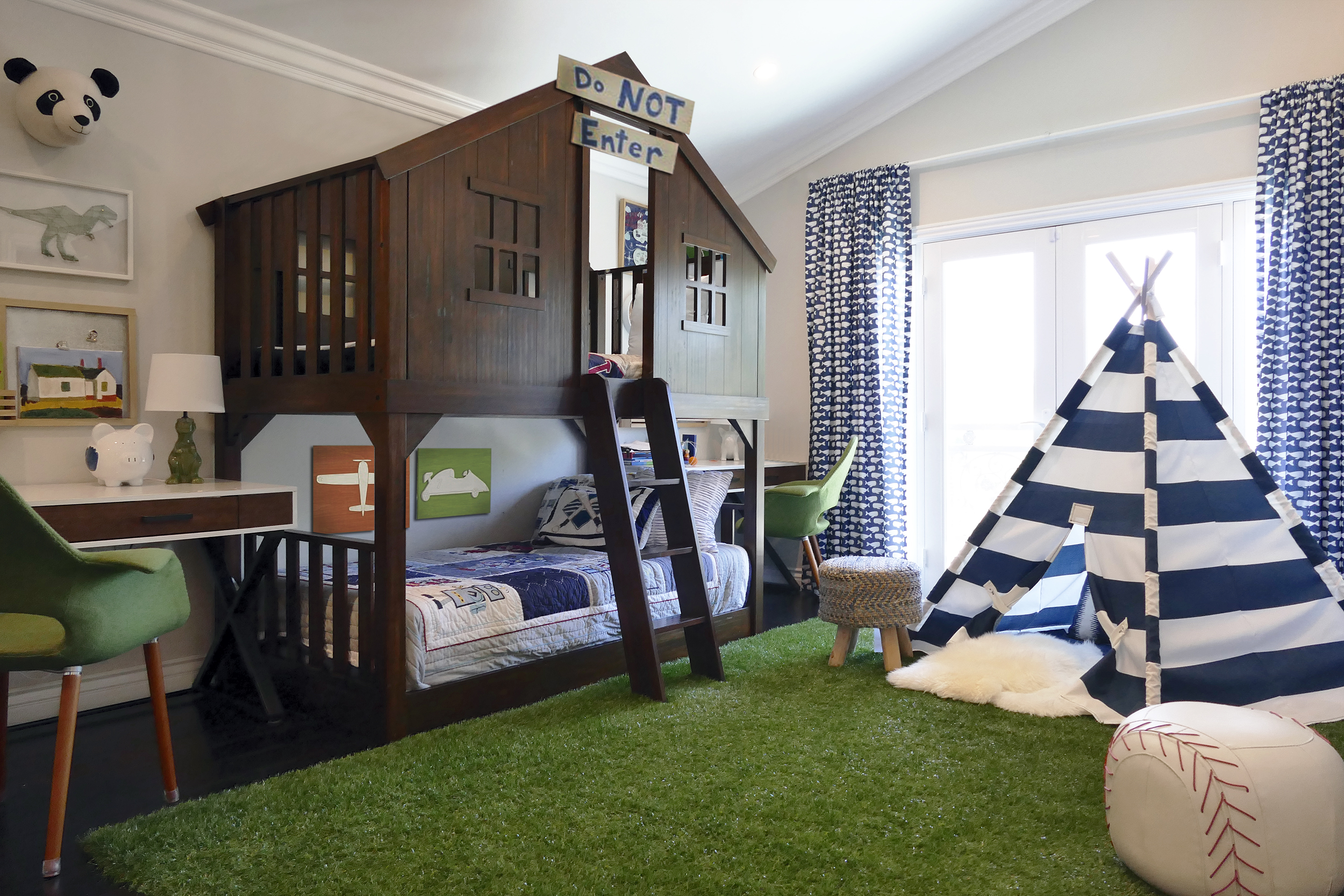 Tree House Inspired Boy's Room