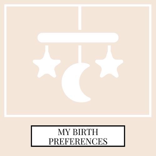 My Birth Preference