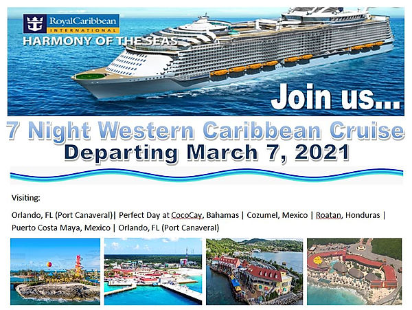 cruise 2021, harmony of the seas, cetac, march 2021, group cruises