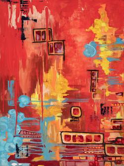 The Departure: Original painting by Tasha Riley (photo credit: BuyArtNow)