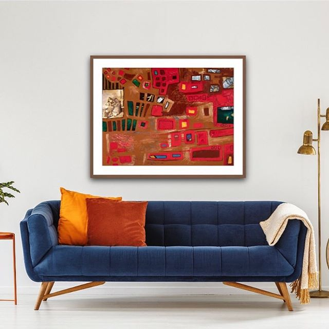 Alone print by Tasha Riley hanging in lounge room setting (photo credit: iArtView)