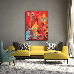 The Departure print by Tasha Riley in lounge room setting (photo credit: iArtView)