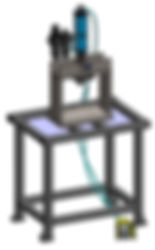 Custom portable air to oil punch press station design in Solidworks 3D CAD