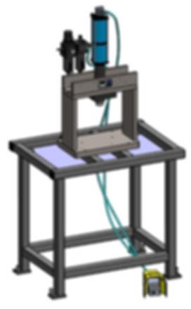 Air-oil portable benchtop 7 ton press
