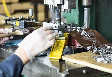 Progressive sheet metal stamping of parts