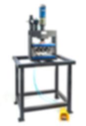 Multicyl air to oil press with mandrel tool for aluminum tubing Vortool