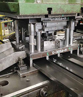 Progressive metal stamping tooling