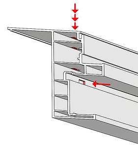 Custom drain hole vinyl extrusion punching press