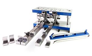Custom multi-station dieto flatten, bend,punch and trimsteel tube / pipe