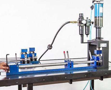 Custom portable mandrel punch press tooling for aluminum pipe or tube