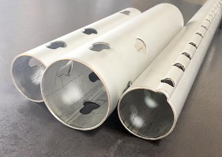 Aluminum tube pipe hole puncing