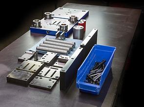 Sheet metal stamping die components