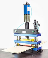 Benchtop press for steel rule die to cut shapes