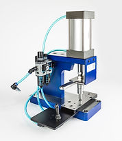 Custom compact benchtop pneumatic stamping press