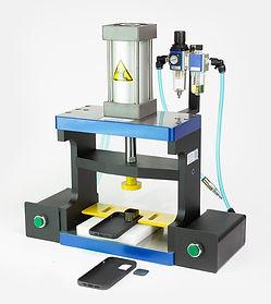 Small flatbed steel rule die pneumatic press