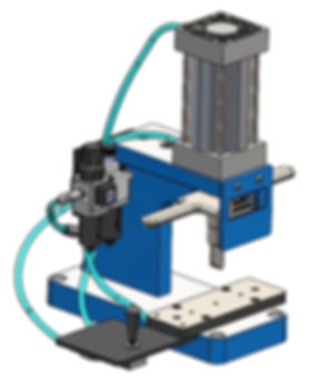 Custom pneumatic press design by Vortool